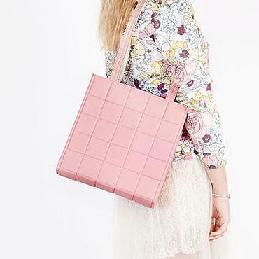 Сумки и аксессуары ручной работы. Ярмарка Мастеров - ручная работа Розовая сумка на плечо Stella, эко кожа. Handmade.