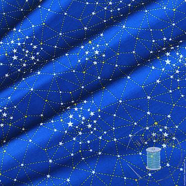 Материалы для творчества ручной работы. Ярмарка Мастеров - ручная работа Ткань сатин для мальчика Космос. 100% хлопок. Handmade.