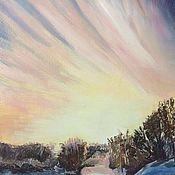 Картины и панно ручной работы. Ярмарка Мастеров - ручная работа Зимний пейзаж. Handmade.