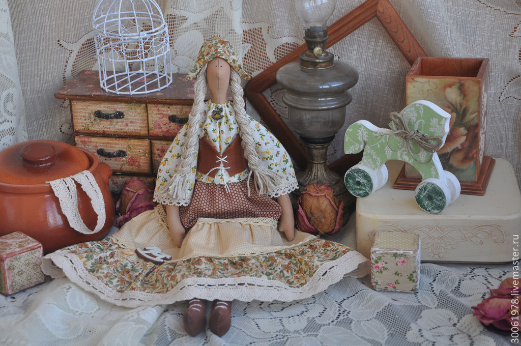 "Кукла в стиле Кантри ""Я люблю свою лошадку"", Тильды, Славянск-на-Кубани, Фото №1"
