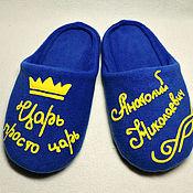 Обувь ручной работы handmade. Livemaster - original item Slippers with individual design. Handmade.