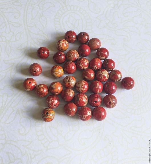 Для украшений ручной работы. Ярмарка Мастеров - ручная работа. Купить Варисцит красный 10 мм. Handmade. Ярко-красный