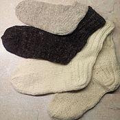 Аксессуары handmade. Livemaster - original item Wool socks in stock. Handmade.