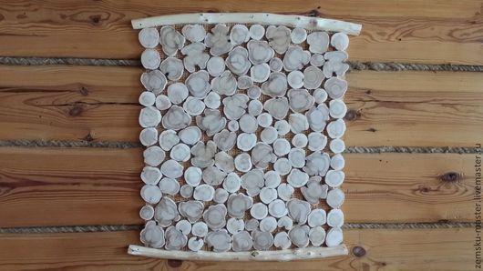 Картины цветов ручной работы. Ярмарка Мастеров - ручная работа. Купить панно из можжевеловых спилов. Handmade. Можжжевельник