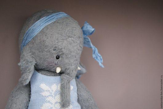 """Мишки Тедди ручной работы. Ярмарка Мастеров - ручная работа. Купить Слоник тедди """"Элли"""". Handmade. Голубой, слон, элли"""