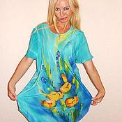 Одежда ручной работы. Ярмарка Мастеров - ручная работа платье-туника  - Желтые тюльпаны. Handmade.