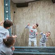 Работы для детей, ручной работы. Ярмарка Мастеров - ручная работа Трикотажный костюм с иллюстрацией Лис. Handmade.