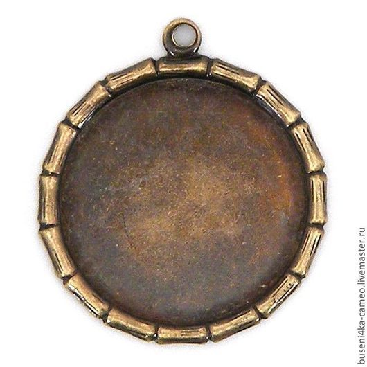 Для украшений ручной работы. Ярмарка Мастеров - ручная работа. Купить Оправа Бамбук 18мм, античная бронза (1шт). Handmade.