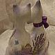 Статуэтки ручной работы. Заказать Лавандовый блюз (керамика). Мастерская подарков. Ярмарка Мастеров. Кошка, лаванда, 14 февраля, акрил