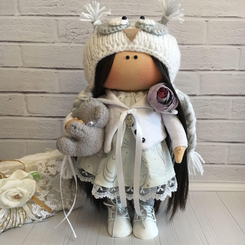 Интерьерная кукла ручной работы совушка тильда, Тильды, Москва, Фото №1