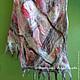 фрагмент шарфа ` Розовый`