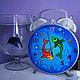 Часы для дома ручной работы. Ярмарка Мастеров - ручная работа. Купить Часы Рыбы. Handmade. Синий, настенные часы, часы