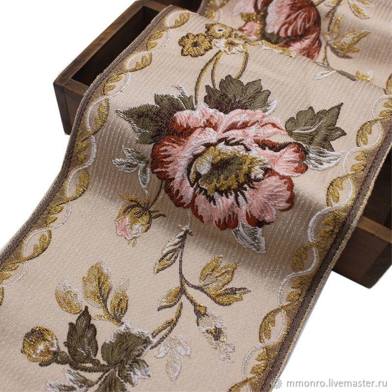 Jacquard braid. Royal rose hip, braid, Podolsk,  Фото №1