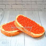 """Мыло ручной работы. Ярмарка Мастеров - ручная работа Мыло """"Бутерброд с красной икрой"""". Handmade."""