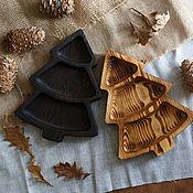 Посуда handmade. Livemaster - original item Wooden plate Christmas tree. Handmade.