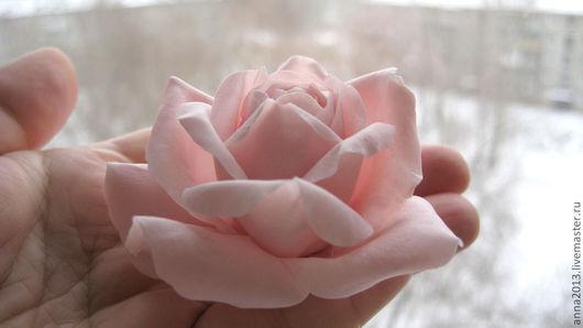 """Броши ручной работы. Ярмарка Мастеров - ручная работа. Купить Брошь """"Нежность"""". Handmade. Бледно-розовый, розовый, весна"""