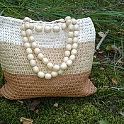 Классическая сумка ручной работы. Ярмарка Мастеров - ручная работа Стильная сумка из рафии. Handmade.