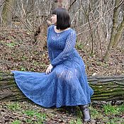 Одежда handmade. Livemaster - original item Mohair dress knitted from Italian-kid-mohair. Handmade.