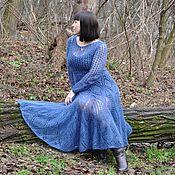 Одежда ручной работы. Ярмарка Мастеров - ручная работа Мохеровое  платье вязаное из итальянского кид-мохера. Handmade.