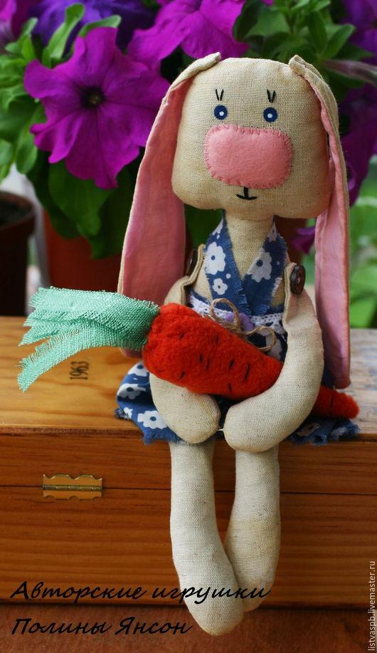 Игрушки животные, ручной работы. Ярмарка Мастеров - ручная работа. Купить Зайка Текстильная игрушка игровая интерьерная. Handmade. Комбинированный