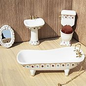 Материалы для творчества ручной работы. Ярмарка Мастеров - ручная работа Ванная комната для кукол. Handmade.