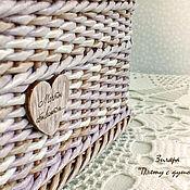 Для дома и интерьера ручной работы. Ярмарка Мастеров - ручная работа Плетеная корзина для хранения Мечты сбываются. Handmade.