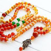 Фен-шуй и эзотерика handmade. Livemaster - original item Solar rosary Mala 108 stones. Handmade.