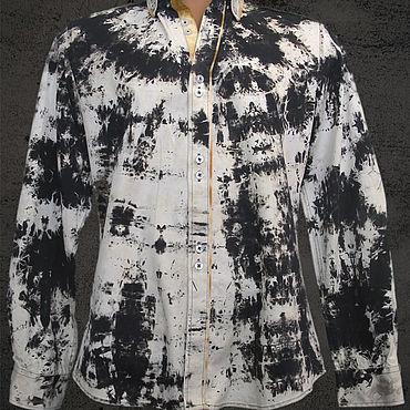 """Одежда ручной работы. Ярмарка Мастеров - ручная работа Рубашка мужская """"Night frost #0026"""". Handmade."""
