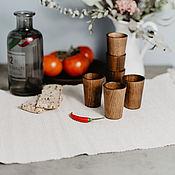 Посуда handmade. Livemaster - original item Set of wooden wine Glasses (6#30. Handmade.
