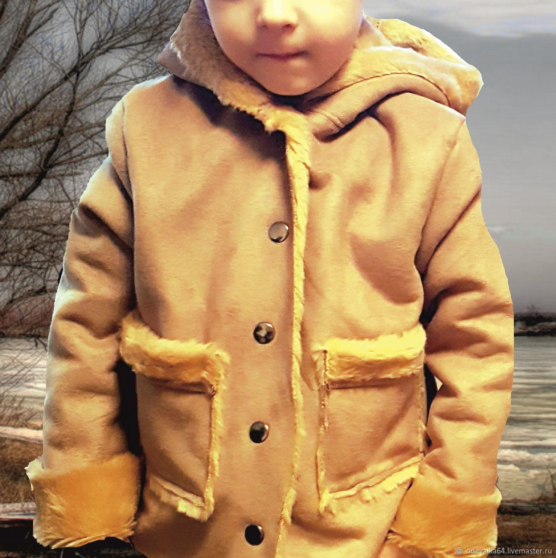 Дубленка из искусственного меха (итальянского), Верхняя одежда детская, Саратов,  Фото №1