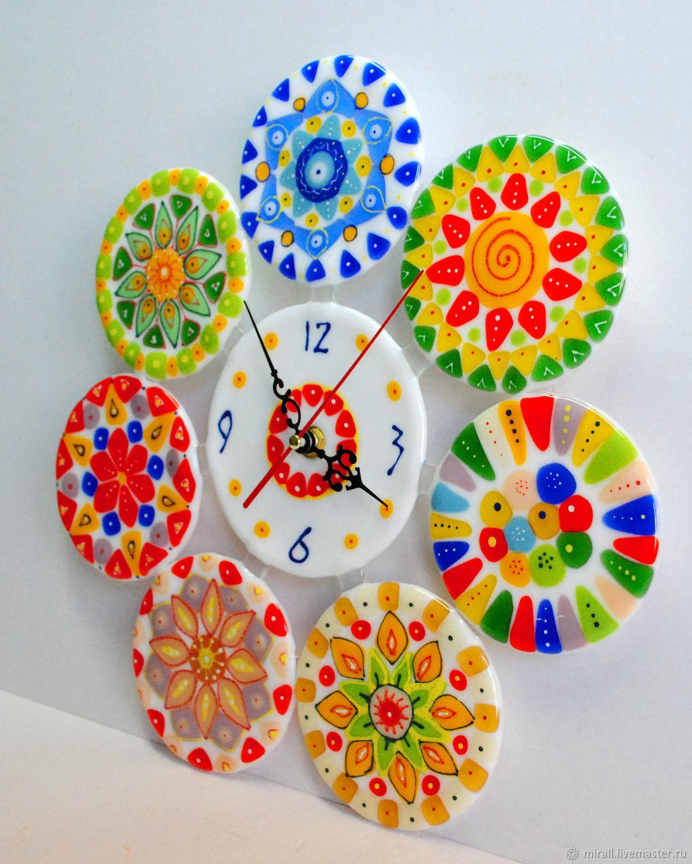 Buy wall clock made of glass millefiori beads fusing on clocks for home handmade wall clock made of glass millefiori beads fusing amipublicfo Gallery