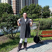 Одежда handmade. Livemaster - original item Grey coat sleeveless