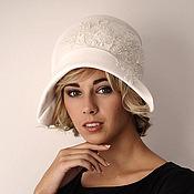 Аксессуары ручной работы. Ярмарка Мастеров - ручная работа Велюровая шляпка для свадьбы. Handmade.