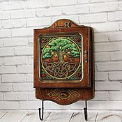 Для дома и интерьера handmade. Livemaster - original item Key holders wall: The tree of life. Handmade.