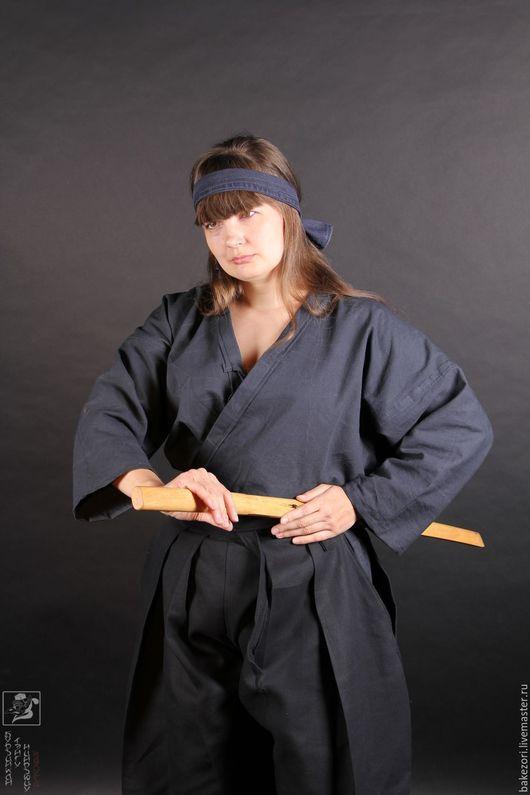 Спортивная одежда ручной работы. Ярмарка Мастеров - ручная работа. Купить Куртка для иайдо (иайдоги или иайги). Handmade. Черный