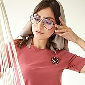Одежда handmade. Livemaster - original item T shirt cotton basic red Cranberry. Handmade.