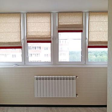 Для дома и интерьера ручной работы. Ярмарка Мастеров - ручная работа Римские шторы на лоджию. Handmade.