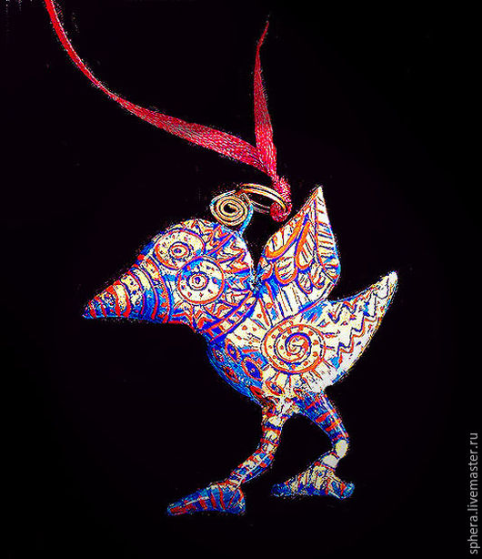 """Кулоны, подвески ручной работы. Ярмарка Мастеров - ручная работа. Купить Кулон """"Mystic Bird"""". Handmade. Синий, кулон, мотивы"""