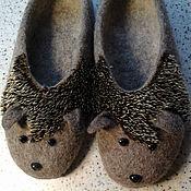 """Обувь ручной работы. Ярмарка Мастеров - ручная работа тапочки  по мотивам """"Ёжики"""". Handmade."""