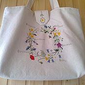Сумки и аксессуары handmade. Livemaster - original item Summer bag with embroidery