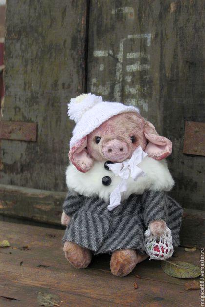 Мишки Тедди ручной работы. Ярмарка Мастеров - ручная работа. Купить Свинка тедди Нюша. Handmade. Розовый, бело-розовый
