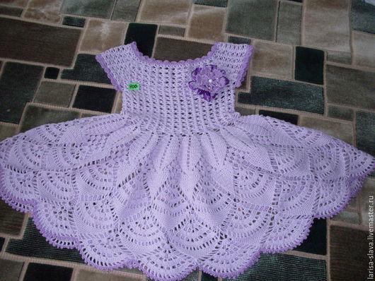 Одежда для девочек, ручной работы. Ярмарка Мастеров - ручная работа. Купить детское платье. Handmade. Бледно-сиреневый, платье летнее
