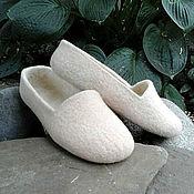 Обувь ручной работы. Ярмарка Мастеров - ручная работа Валяные тапочки в ЭКО-стиле, войлочная обувь. Handmade.