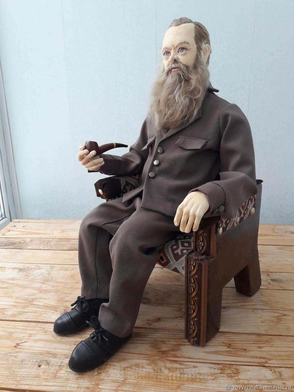 Портретная кукла Павел Петрович Бажов, Портретная кукла, Лесной,  Фото №1