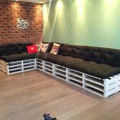 Для дома и интерьера ручной работы. Ярмарка Мастеров - ручная работа Матрасы футон (подушки-спинки) для мебели из паллет на поддоны. Handmade.