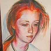 Картины и панно ручной работы. Ярмарка Мастеров - ручная работа портрет левушки с рыжими волосами карандашом. Handmade.