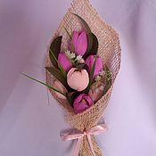 """Цветы и флористика ручной работы. Ярмарка Мастеров - ручная работа Букет из конфет """"Нежность весны"""". Handmade."""