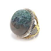 Украшения handmade. Livemaster - original item Silver infinity ring with agate. Handmade.