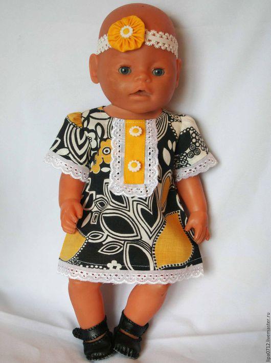 Одежда для кукол ручной работы. Ярмарка Мастеров - ручная работа. Купить Ситцевое платье. Handmade. Комбинированный, одежда для Беби Борн