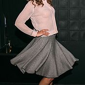 Одежда ручной работы. Ярмарка Мастеров - ручная работа Кофта в сетку и юбка. Handmade.